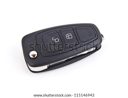 Car key isolated on a white background.