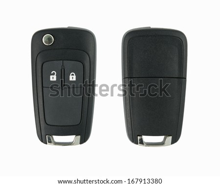 Car key remote on a white background - stock photo