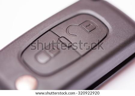 Car key remote unlocking body. - stock photo