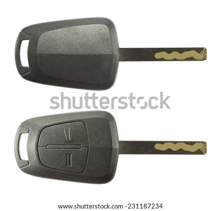 Car keys isolated on white - stock photo