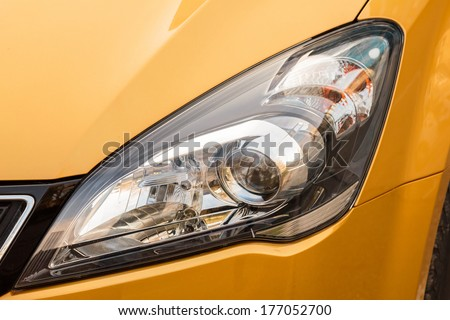 Car light - stock photo