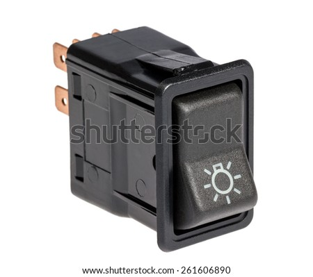Car light control switch  isolated on a white background