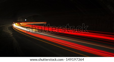 car lights at night. art image.  - stock photo