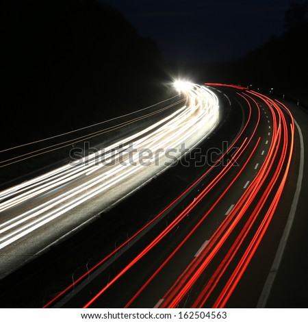 car lights - square background