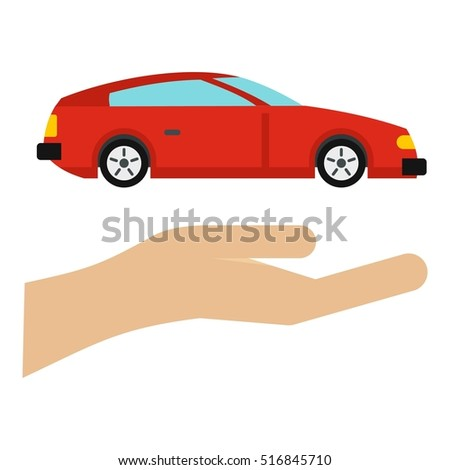 Car logo. Flat illustration of car  logo for web