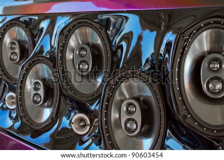 Car Loudspeaker - stock photo