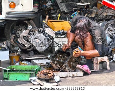Car mechanic repair gear gearbox