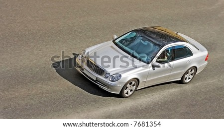 """car on road of my """"cars"""" series - stock photo"""