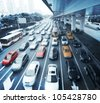 Car on the highway - stock photo