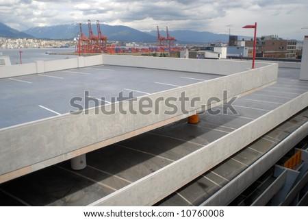 Car parking lot - stock photo
