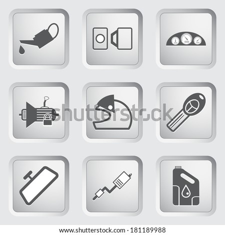 Car part and service icons set 4.  - stock photo
