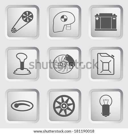 Car part and service icons set 2.  - stock photo