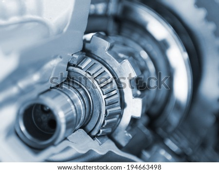 car parts gear set - stock photo