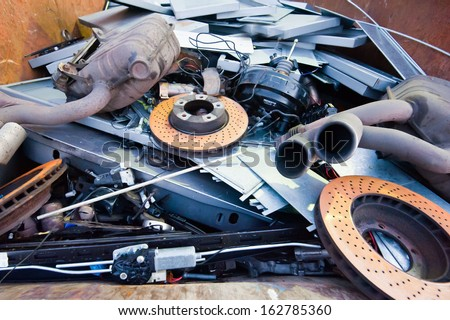 car parts rubbish - stock photo
