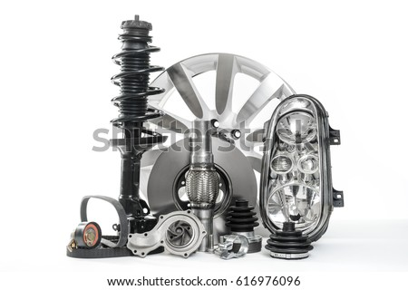 Car Parts Spare Parts Accessories Cars Stock Photo 616976096 ...