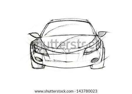 Car Pencil Sketch Stock Illustration 143780023 - Shutterstock