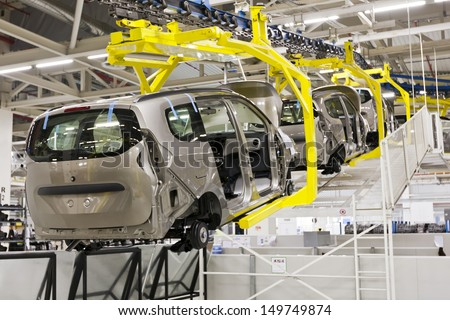 Car production - stock photo