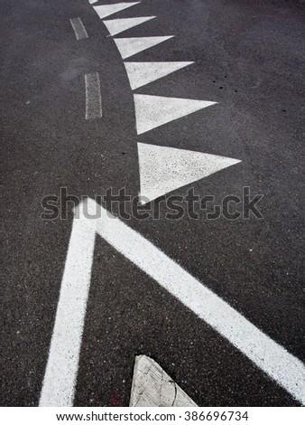 car race asphalt - stock photo