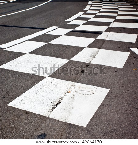 Car race asphalt and curb  - stock photo