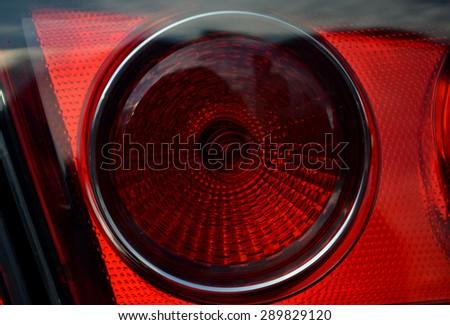 car reflector headlamp - stock photo