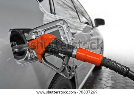 car refuel - stock photo
