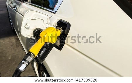 Car refueling on a gas station