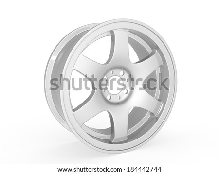 Car rim - stock photo