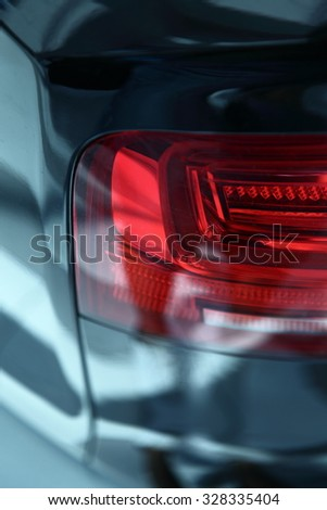 Car's exterior details.Element of design.Rear light.