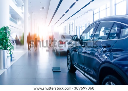 Car sales, market place, - stock photo