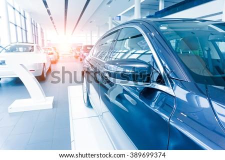 Car sales, market place, - stock photo