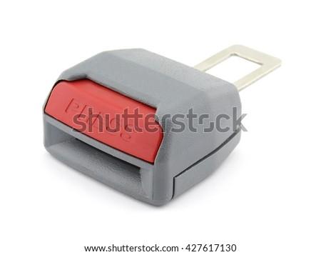 Car seat belt extender - stock photo