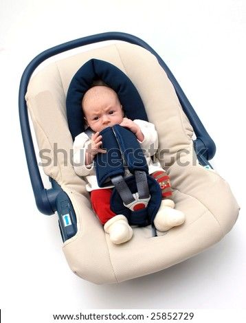 car seat for safety - baby safety - stock photo