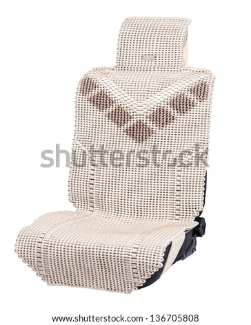Car seat isolated on white background.[Reserve d path]