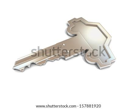 car shape key - stock photo