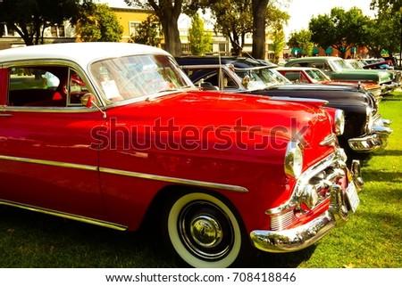 Car Show California Sep Stock Photo Royalty Free - Paso robles car show