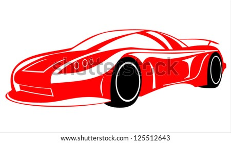 Car silhouette on a white background