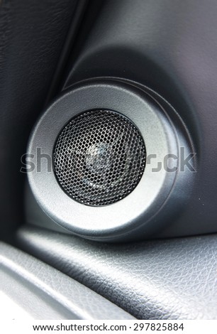 Car speaker - stock photo