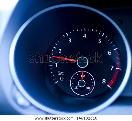 car speed meter - stock photo