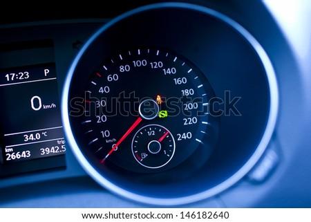 car speed meter - stock photo
