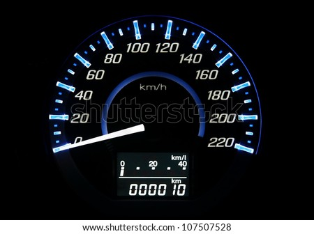 car speedometer - stock photo