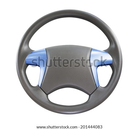 car steering wheel isolated on white background.