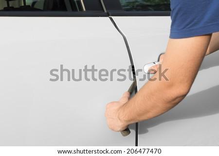 Car theft. - stock photo