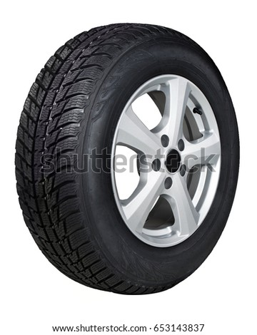 Car tire isolated on white