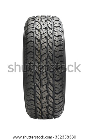 Car tire isolated on white background.