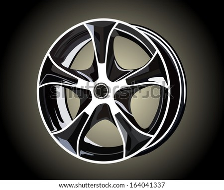 Car tire with rim