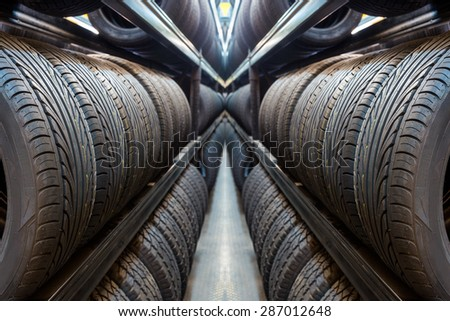 Car tires at warehouse for sale 