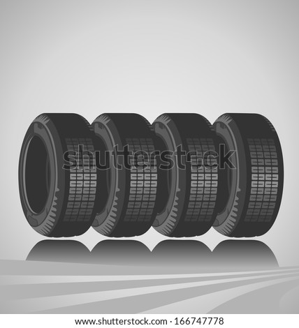 Car tires design - stock photo