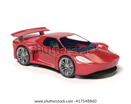 car toy 3d rendering - stock photo