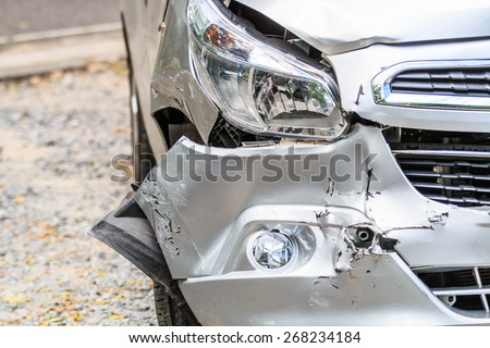 Car Traffic Accident - stock photo