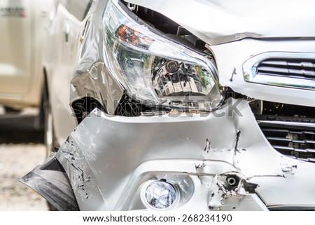 Car Traffic Accident - stock photo